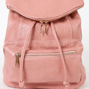 Leatherette Baby's Got Backpack PINK