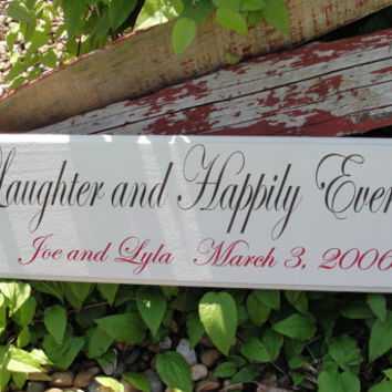 Wedding Sign,  Love Laughter Sign, Family Sign, Home Sign, Established Sign, Personalized Sign, Carved Sign,