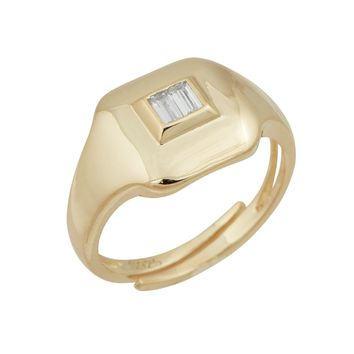 Baguette Pinky Ring