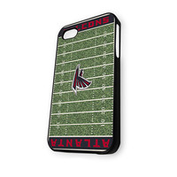 Atlanta Falcons Logo NFL Field iPhone 4/4S Case