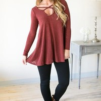 Rocking Around Criss Cross Top - Crimson