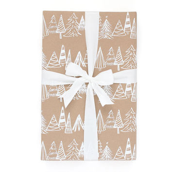 Christmas Forest Gift Wrap