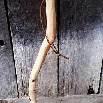Manzanita Tree Walking Stick/Compass Hiking Trail Stick/Hand Carved/Compass Hiking Camping Cane Stick/Little Person/Child Size Sticks