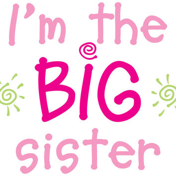 i'm the big sister color transfer iron-ons - 2 ct