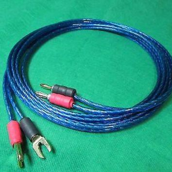 Samurai  TRUE 12 Gauge Wire Speaker Cable 2 Banana Plugs to 2 Spades , 35 Ft.