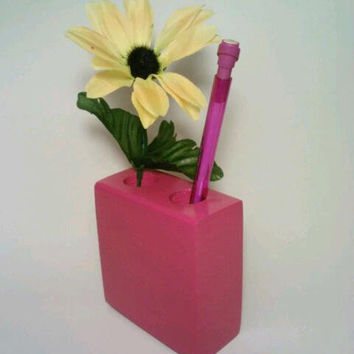 Upcycled Holder / Desk Accessory By DeerwoodCreekGifts