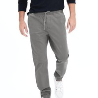 Banana Republic Mens Aiden Slim Twill Jogger Pant