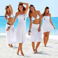 Bikini Convertible Multi wears Cover ups Summer Beach Dresses