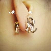 BOGO-Fashion 3D Elephant Ear Stud (Single)