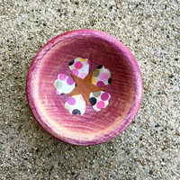 Purple Wood Trinket Bowl
