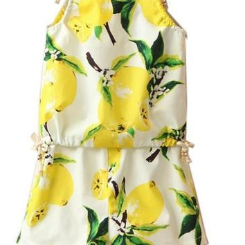 *online exclusive* girls lemon romper