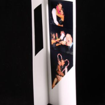 50 White Photo Booth Frame Folders for 2x6 Photo Strips