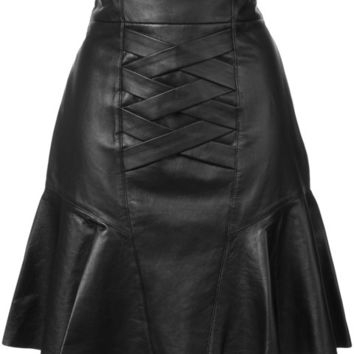Derek Lam 10 Crosby Lace-Up Peplum Skirt - Farfetch