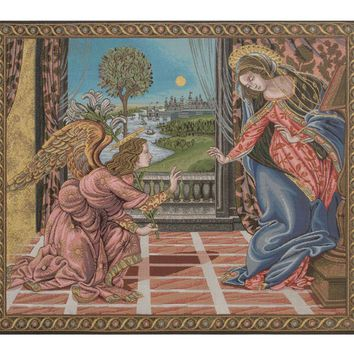 Annunciation Botticelli Tapestry Wall Art Hanging