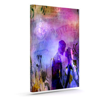 "alyZen Moonshadow ""Couple In Love"" Purple Pink Canvas Art"