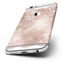The Rose Gold Lace Pattern 7 Six-Piece Skin Kit for the iPhone 6/6s or 6/6s Plus