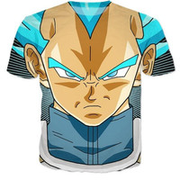 Dragon Ball Z Vegeta Hipster 3D Short Sleeve T-Shirt