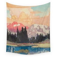 Society6 Storms Over Keiisino Wall Tapestry