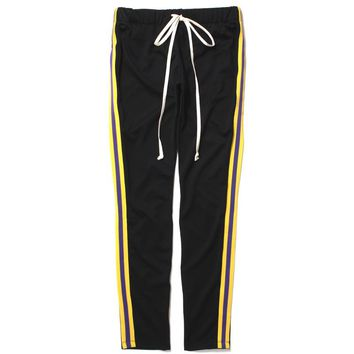 Taped Track Pants Black / Yellow / Purple