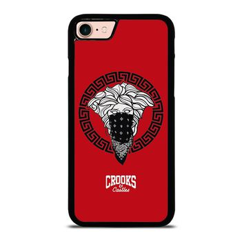 CROOK AND CASTLES BANDANA RED iPhone 8 Case