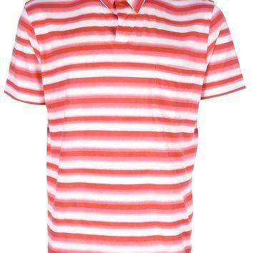 Ps Paul Smith Striped Polo Neck T-Shirt