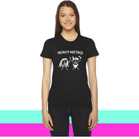Funny Heavy Metals Drawing women T-shirt