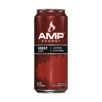 Amp Energy Boost Cherry 16 Oz Cans - Case of 12