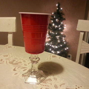 Red Solo Cup Wine Glasses drinking Redneck Hillbilly Deluxe New big buck fisherman