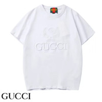 GUCCI New fashion bust embroidery letter leaf couple top t-shirt White