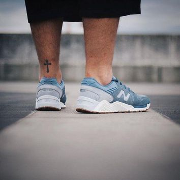 LMFON new balance 009 speckle suede blue rain with silver mink