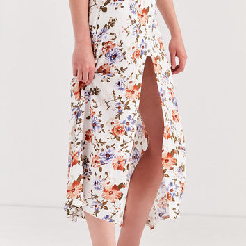 Lost In Lunar Sprint Fling Button-Down Maxi Skirt | Urban Outfitters