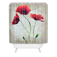 Madart Inc. Vibrant Poppies I Shower Curtain