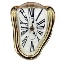90 Degree Twisted Wall Clock Creative    golden
