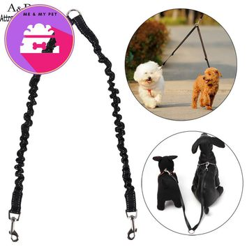 Brand New Nylon Double Dog Coupler Twin Lead 2 Way Two Pet Dogs Walking Leash Splitter Safety N*