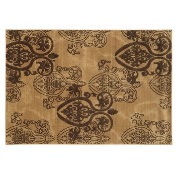 Linon Jewel Damask Rug