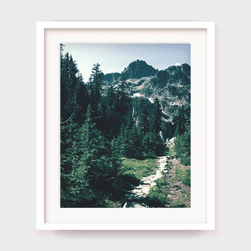 Mountain Art Print, Colorado Mountain Art, Mountain Trail, Forest Art, Nature Print, Printable Wall Art, Outdoors Artwork, Instant Download