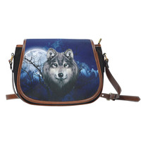 Grey Wolf Saddle Bag