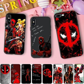 Minason Funny Deadpool Quotes Capa Silicone Case for iPhone X 5S fc4f51556b27