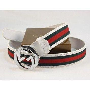 white gucci belt new