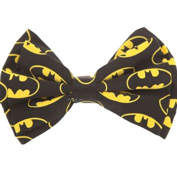 Licensed cool DC  Batman Bat Logo Adjustable Classy Bow Neck Tie Cosplay Dress-up NEW