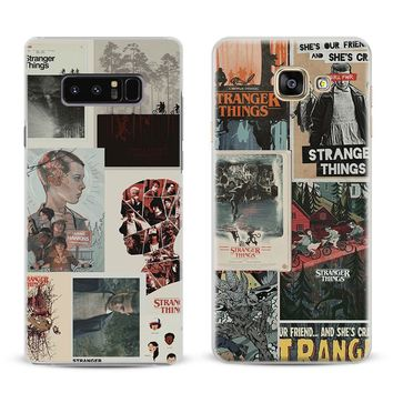 Stranger Things Coque For Samsung Galaxy S4 S5 S6 S7 Edge S8 S9 Plus Note 8 2 3 4 5 A5 A7 J5 2016 J7 2017 Phone Case Shell Cover