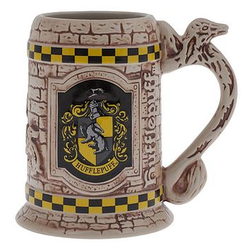 Universal Studios The Wizarding World Harry Potter Hufflepuff Stein Coffe Mug New