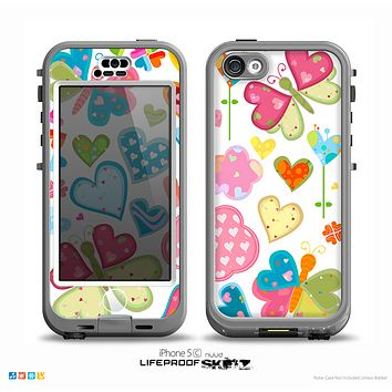 The Fun Colored Love-Heart Treats Skin for the iPhone 5c nüüd LifeProof Case