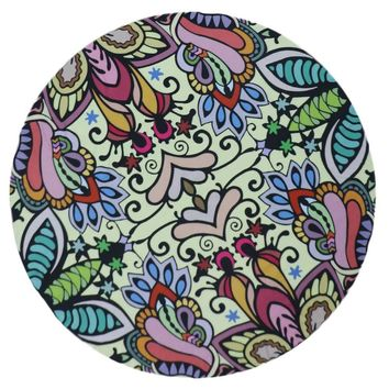 Round Colorful Print Tapestry (Multi Colored)