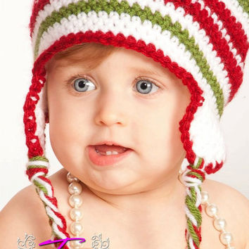 Christmas in July, Baby Hat, Newborn Girl Hats, Newborn Photo Props, Newborn Photography Prop, Baby Boy Hats