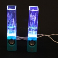 USB LED Light Dancing Water Show Speakers Music for PC Laptop PSP MP3 Phone Blue