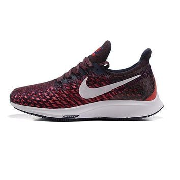 Nike Air Zoom Pegasus All Out Flyknit Black White Red