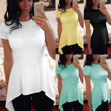 Celmia Women Blouse Peplum Tops Blusas 2018 Summer Ladies Short Sleeve Sexy Tunic Tee Slim Fitness Casual Shirts Plus Size S-4XL