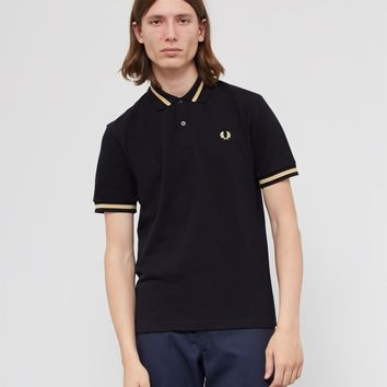 Fred Perry Made In England M2 Single Tipped Polo Shirt Black
