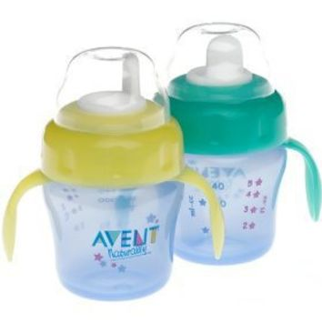 Philips AVENT 2 Pack BPA Free Toddler Cup, 7 Ounce, Colors May Vary